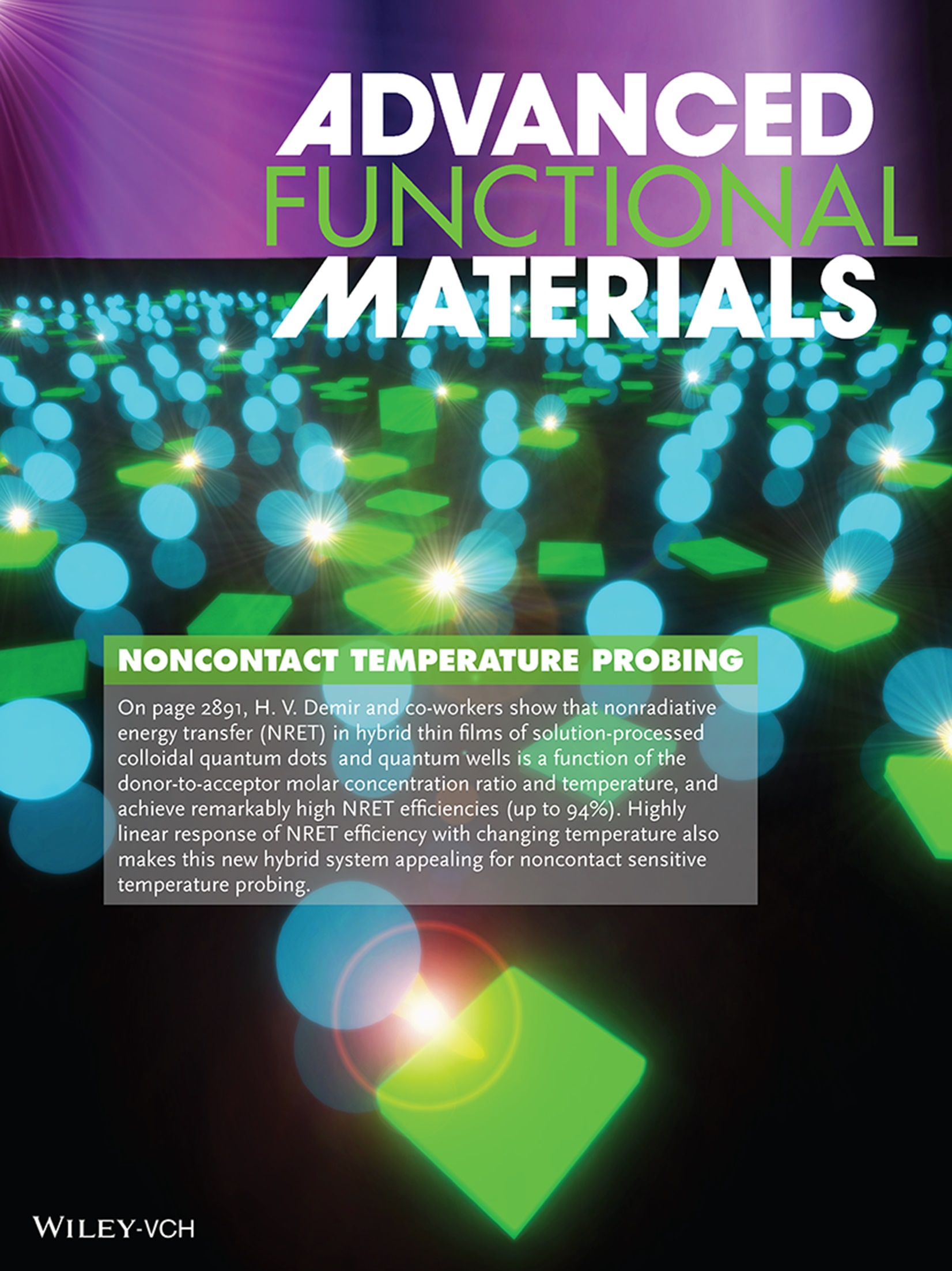 Advanced Functional Materials Cover 1